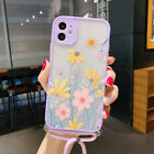 Lavender Daisy Flowers Lanyard Strap Phone Case For iPhone 11 Pro XS Max X 8 SE2