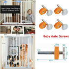 Baby Safety Stair Gate Screws/Bolts Kit With Locking Nut Spare Parts Accessories