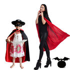 Adults Kids Halloween Costumes Collar Death Vampire Cloak Cape Gown Red Black US