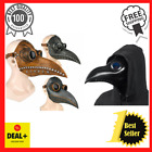 Halloween Máscara Medieval Steampunk Plague Doctor Bird Latex Punk Cosplay Adult