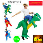 Ride On Dinosaur Costume Inflatable Suit T-Rex Fancy Dress Party Home Christmas
