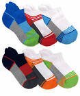 Jefferies Socks Boys Sport Low Cut No Show Ankle Cushion Tab Socks 6 Pair Pack
