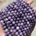 "AAA Natural Genuine Purple Lepidolite Round Gemstone Beads 15.5"" Strand 4mm-10mm"