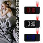 LED Digital Projection LCD Display Alarm Clock with FM Radio Function New