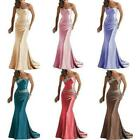 Satin Mermaid Bride Dresses Strapless Bead Slim Fit Wedding Ladies Party Gowns