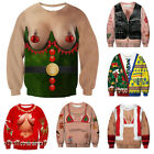 Unisex 3D Ugly Funny Sexy Sweater Ugly Women Men Xmas Pullover Sweatshirt Tops
