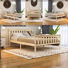 Wood Bed Milan Single Double King Size 3ft 4ft6 5ft Frame Pine White Mattress