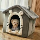 New Pet Dog Cat House Beds Kennel Indoor Raised Tent Cushion Mat Chimney House