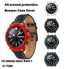 For Samsung Galaxy Watch 3 41/45mm TPU Bumper Case Cover Screen Protector