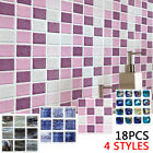 Mosaic-sticker Kitchen Tile Stickers Bathroom Self-adhesive Wall Decor Home Diy