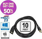 USB 2.0 High Speed Extension Cable Male A to Female A Charger Powered Data Sync