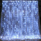 LED Fairy String Curtain Window Lights Christmas Xmas Party Waterproof Decor UK