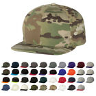Yupoong Flat Bill Ball Cap Two-Tone Colors w/ Official Multicam Camo 6089M