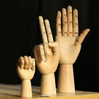 """7/9/11"""" Wooden Hand Drawing Mannequin Hand Movable Limbs Human Artist Model"""