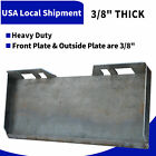 "1/4"" 5/16"" 3/8"" 1/2"" Skid Steer Loader Mount Plate Quick Tach Attachment Heavy"