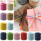 Paper Raffia Ribbon Decorating Flowers Gift Crafts Scrapbook Natural 10 Colours