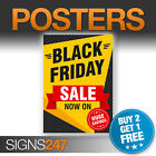 BLACK FRIDAY SALE POSTER  - SALE NOW ON printed sign (BA001)