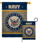 US Navy Burlap Garden Flag Armed Forces Small Gift Yard House Banner