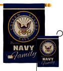 Navy Proudly Family Burlap Garden Flag Armed Forces Small Gift Yard House Banner