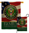 US Army Family Honor Burlap Garden Flag Armed Forces Gift Yard House Banner