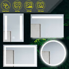Round/square Bathroom Led Mirror Anti-fogging Touch Switch Wall Mounted Ip44