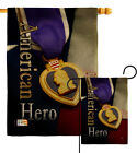 Purple Heart Hero Burlap Garden Flag Service Armed Forces Small Gift Yard Banner