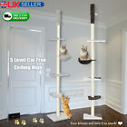 5 Level Cat Tree Ceiling High Climbing Tower Scratching Post Activity Centre OL