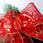 2M/4M Sparkle Wired Christmas Ribbon Ribbon Cake Gift Packging Warapping Bows