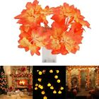 2m 20LED Maple Leaves Fall Garland String Light Decors Halloween Xmas Party Lamp