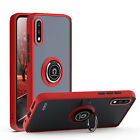 For LG K22 / K22+ Plus Phone Ring Case Magnetic Metal Kickstand Clear Back Cover