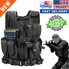 US Military Vest Tactical Holster Police Molle Assault Combat Gear