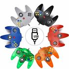 For Windows PC Wired N64 USB Controller Joystick Gamepad Christmas Gift