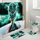 The Universe The Wolf Spirit Shower Curtain Toilet Cover Rug Mat Contour Rug Set