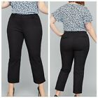 New Lane Bryant 20 28 Black The Allie Stretch Skinny Crop Dress Pants Plus Size