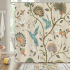 Hummingbird And Spring Flower Shower Curtain Bathroom Decor Fabric & 12hooks 71