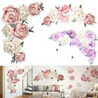Home Decoration Mural Art Wall Ornament Peony Stickers Flower Decal Supplies