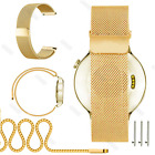 Magnetic Milanese Stainless Steel Loop Watch Wrist Band Strap For MK Smart Watch