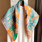 Luxury 100 Twill Silk Scarf Women Fashion Samurai Armor Print Shawl Hijab 90cm