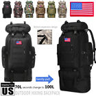 100L/70L/80L Outdoor Military Tactical Backpack Camping Hiking Molle Camo Bag US