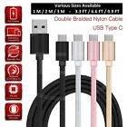 Charging Cable for Samsung Galaxy M31 Charger USB TypeC Data Cable Nylon Braided