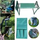Portable Foldable Folding Garden Kneeler Foam Seat Pad Kneeling Stool Tool Bag
