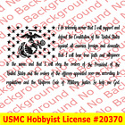USMC Enlistment Oath Semper Fi Marines America Flag Vinyl Die Cut Decal AY055K