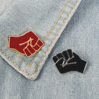 Unity Brooch Black And Red Raised Fist Enamel Pin Costume Backpack Jewelry Badge