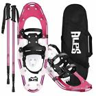 ALPS Pink 14/17/21/25/27/30in Snowshoes withTrekking Pole, Carrying Tote Bag