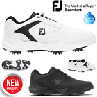 FOOTJOY ECOMFORT MENS GOLF SHOES WHITE OR BLACK GOLF SHOES ** NEW ** WATERPROOF