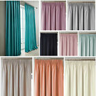 Canvas Blackout Pencil Pleat Tape Top Curtains (pair Of) Ready Made