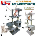 Cat Tree Scratching Post Kitten Playing Activity Centre Bed Toy Scratcher Fp
