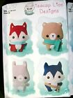 """NEW SIMPLICITY SEWING PATTERN H0237 / 8188 STUFFED ANIMALS APPROX. 15"""" UNCUT"""