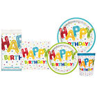 Happy Birthday Disposable Plates Napkins Tablecloth Party