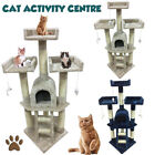 115cm Cat Tree Climb Scratching Post Playing Activity Centre Toy Scratcher 3j